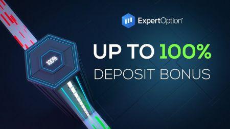 โปรโมชั่นต้อนรับ ExpertOption - โบนัสเงินฝาก 100% สูงถึง $ 500